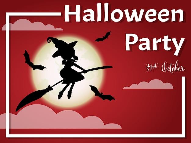 Sfondo di halloween con testo happy halloween.
