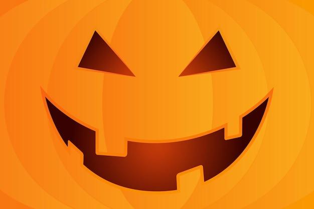 Sfondo di halloween con zucca faccia felice. illustrazione del fumetto di vettore.