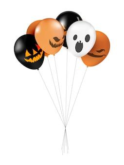 Palloncini di halloween impostare illustrazione.