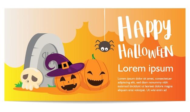 Modello di sfondo banner di halloween