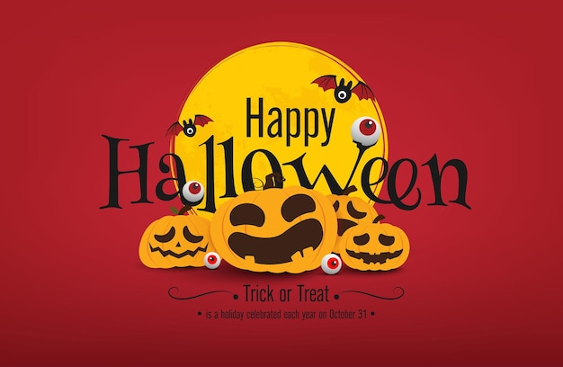 Disegno vettoriale di banner di halloween