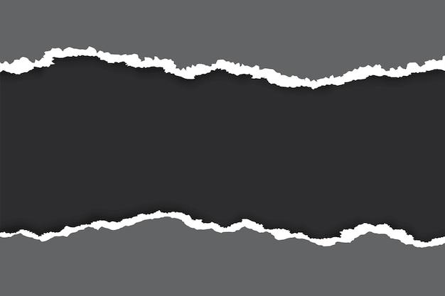 Sfondo di carta strappato nero di halloween con posto di colore nero per il testo.