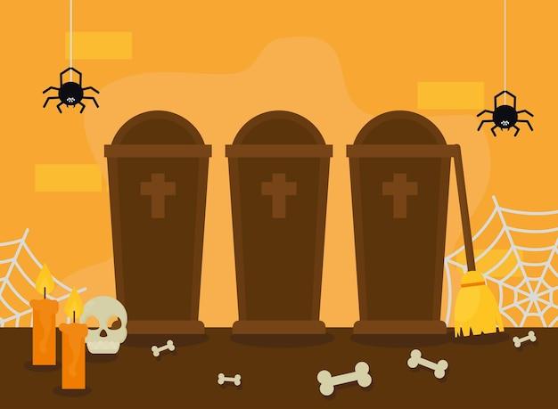 Bare e ragni di halloween
