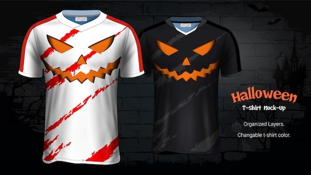 Modello di mockup di t-shirt costume di halloween
