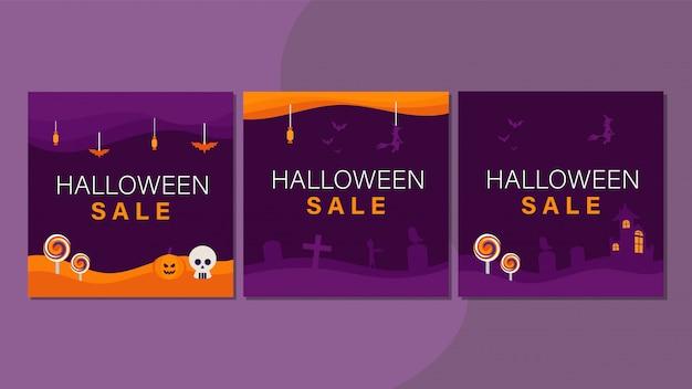 Modello di copertina di halloween per i social media