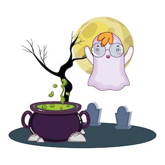 Cartoni animati carini di halloween