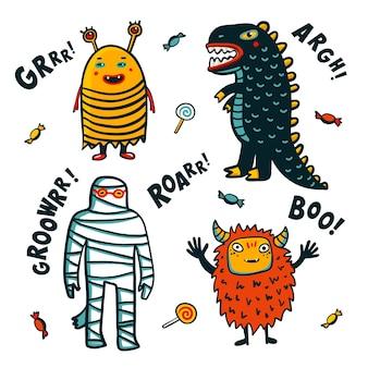 Elementi di design di halloween