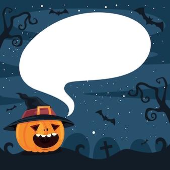 Halloween design con personaggio dei cartoni animati