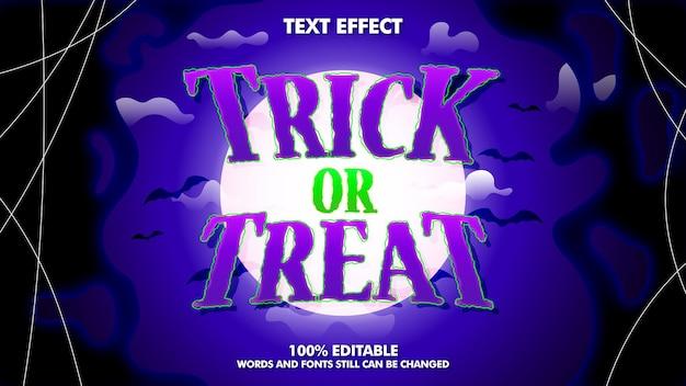 Effetto di testo modificabile di halloween