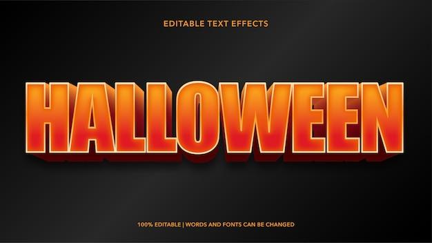 Effetti di testo modificabili di halloween