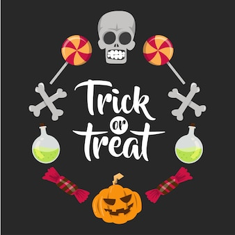 Banner di elemento di halloween