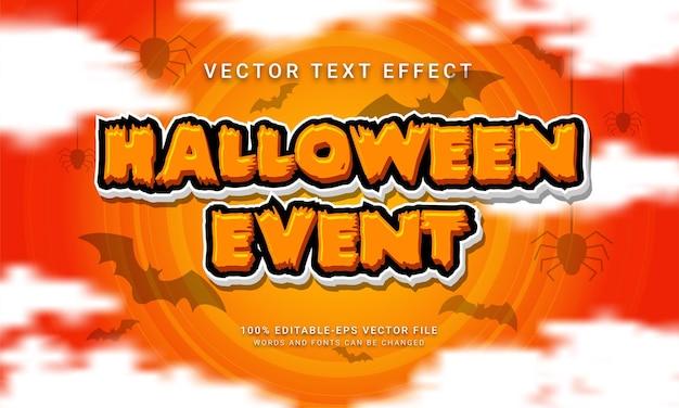 Effetto di stile di testo modificabile per eventi di halloween con tema speciale di halloween