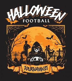 Evento annuale del torneo di calcio di halloween