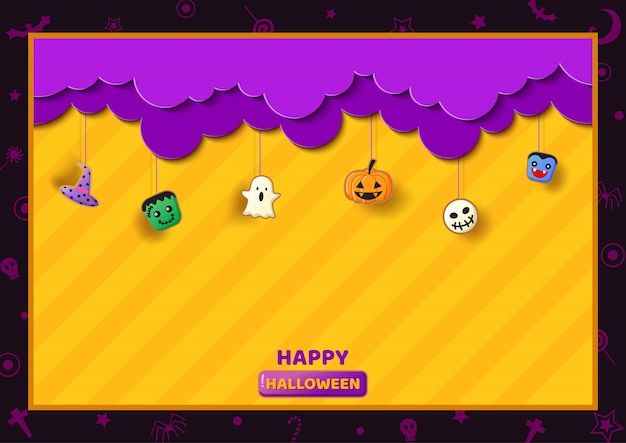 Cornice di halloween decorata con il simbolo