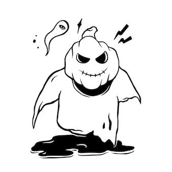 Doodle fantasma di halloween