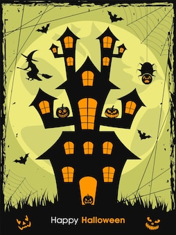 Biglietto di auguri di halloween per la celebrazione del festival