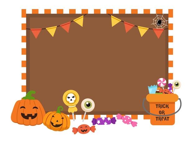 Concetto di vacanza di halloween. vettore dell'illustrazione di halloween del bordo del cuneo