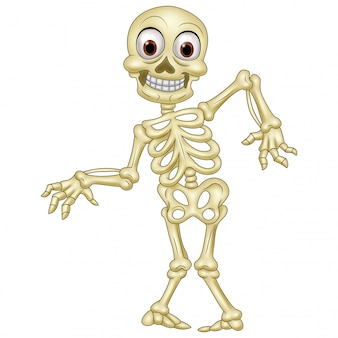 Scheletro umano di halloween