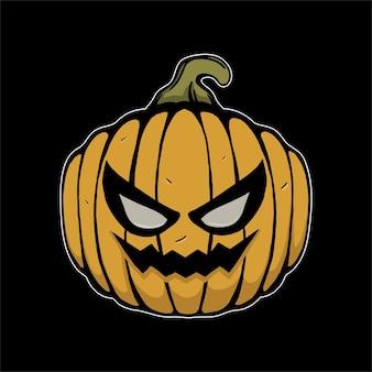 Zucca di halloween illustrazione per tshirt
