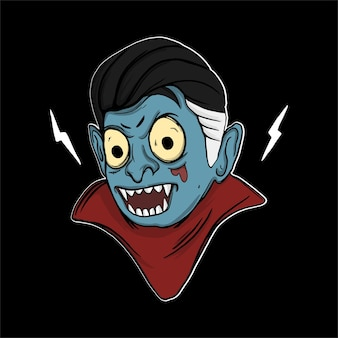 Vampiro di illustrazione di halloween per tshirt