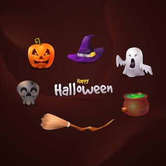 Pacchetto di oggetti di halloween