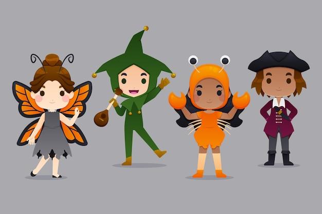 Pacchetto costumi per bambini di halloween