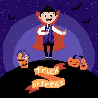 Festa in costume di halloween per bambini.