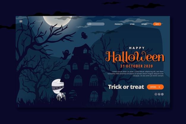 Pagina di destinazione di halloween