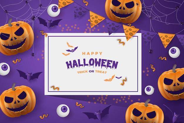 Priorità bassa del partito di halloween delle zucche di risata di halloween