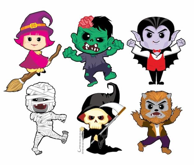 Cartone animato mascotte di halloween