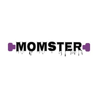 Panino disordinato di halloween holiday mom life design con citazione spooky mama