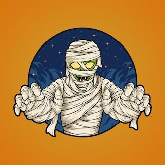 Mummia di halloween