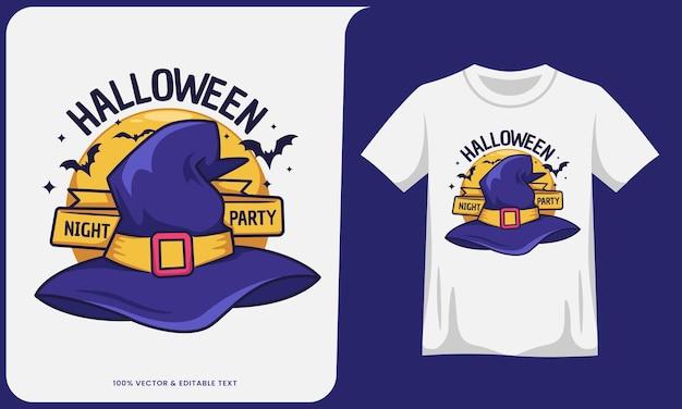 Design per feste notturne di halloween per poster e tshirt