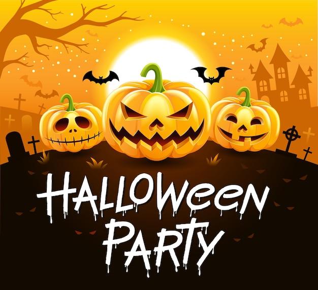 Halloween party design isolato su giallo