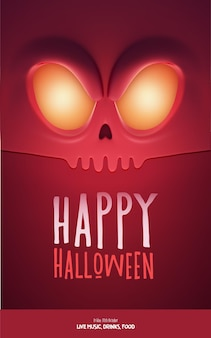 Halloween party design, con mostro spaventoso e posto per il testo. illustrazione