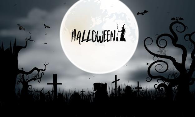 Manifesto del partito di halloween. sfondo di carnevale concept design