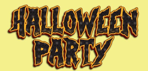 Disegno del testo della festa di halloween