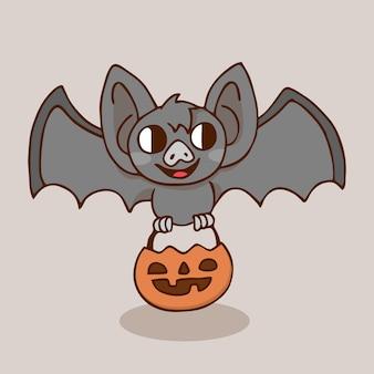Pipistrello di zucca di halloween