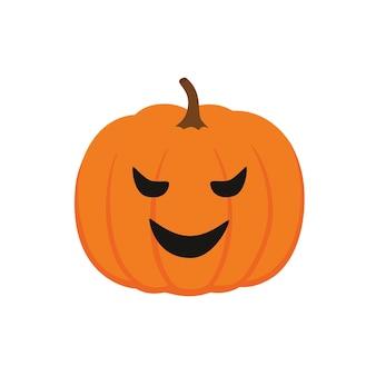 Zucca di halloween, facce buffe. vacanze autunnali. illustrazione vettoriale