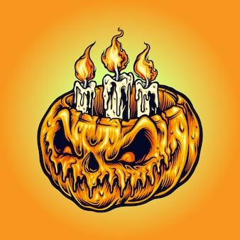 Lume di candela delle zucche di halloween