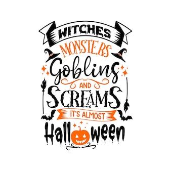 Halloween citazioni svg design lettering