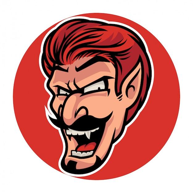 Dracula spaventoso di halloween che sorride con la sua zanna