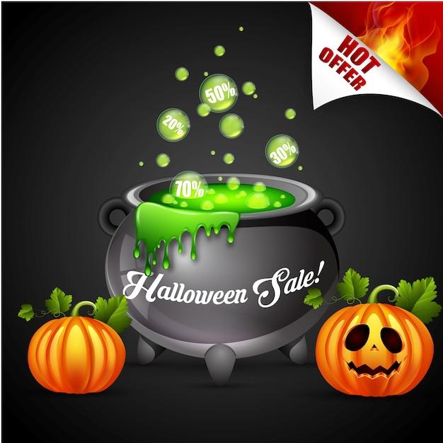 Progettazione di massima dell'insegna di vendita di halloween