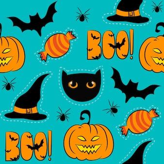 Baground senza cuciture di halloween. illustrazione vettoriale eps 8