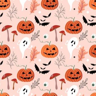 Reticolo senza giunte di halloween con elemento stagionale