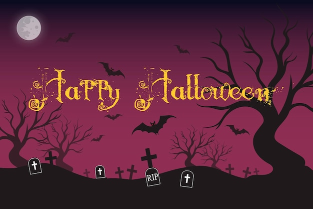 Disegno della priorità bassa della siluetta di halloween