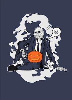 Teschio di halloween