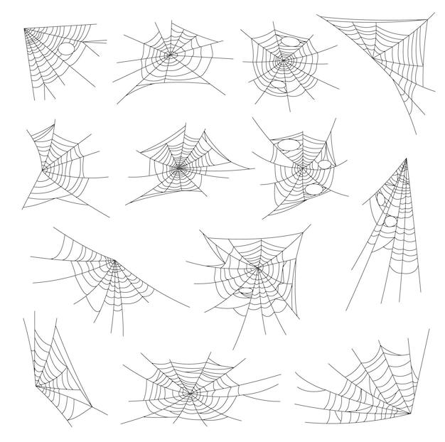 Set di decorazioni per ragnatele e reti di ragnatele di halloween