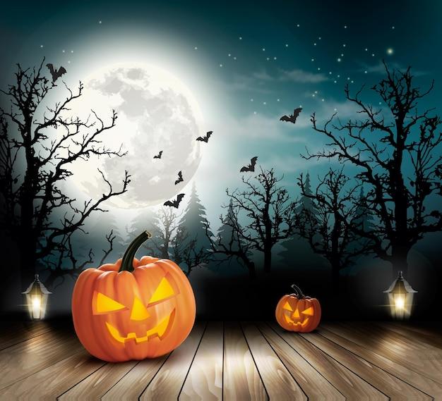 Sfondo spettrale di halloween.