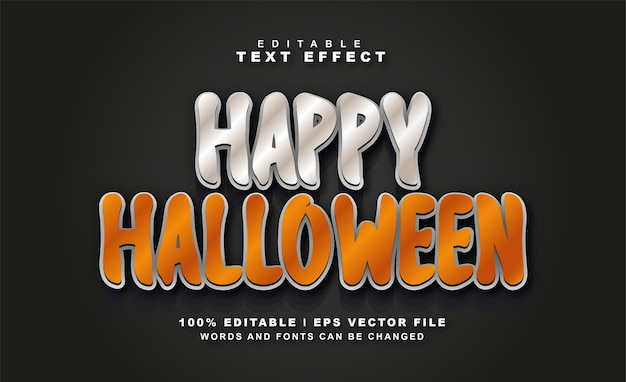 Vettore gratuito di effetto testo di halloween